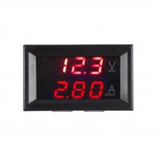 вольтметр + амперметр электронный 4,5-30 В 0-10А