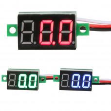 вольтметр электронный 0-100 В постоянное напр. 13x34мм