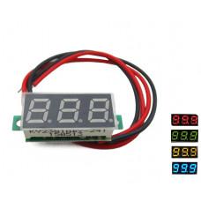 вольтметр электронный 2,5-30 В постоянное напр. 30x11.5 мм