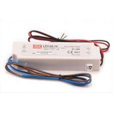 Блок питания свет ленты 220В 12В 2,9А герметичный